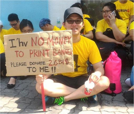 Bersih 4.0 - Charming and Creative Photo - No Money To Print Banner So Need Donation