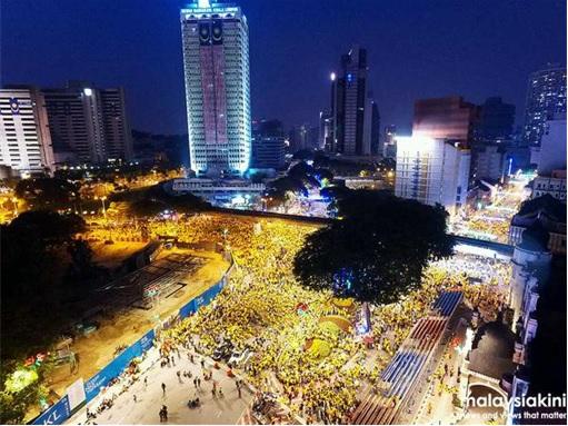 Bersih 4.0 - Crowd at Night - Beautiful Sight
