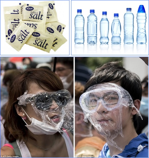 Bersih 4.0 Survival Kit - Water or Isotonic Drink - Salt - Goggles