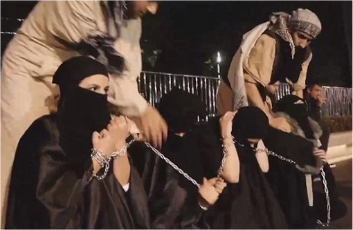 ISIS - Sex Slavery - Women Captured and Chained