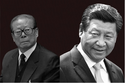 Jiang Zemin and Xi Jinping