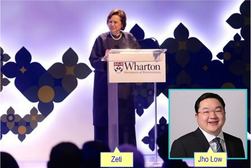 Malaysia Bank Negara Governor Zeti Received Medal From Wharton - Jho Low Inset