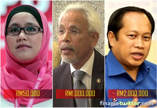 Image result for Sharir Samad said he got RM1million from najib