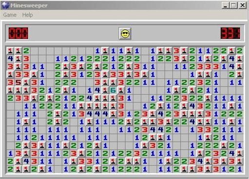 Microsoft Windows Minesweeper Game