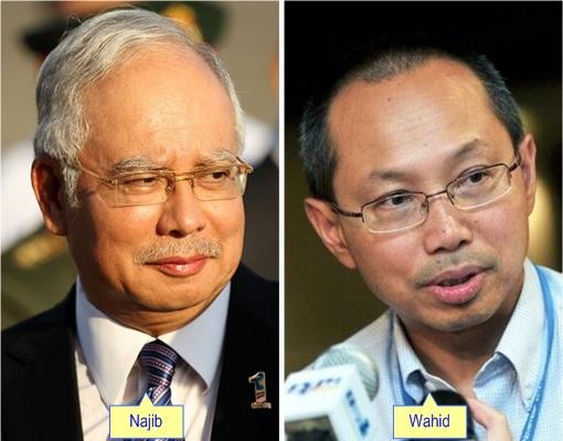 Najib Razak and Wahid Omar
