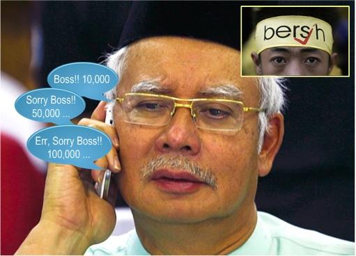 Najib Worry - Special Branch Report Bersih 4 Number