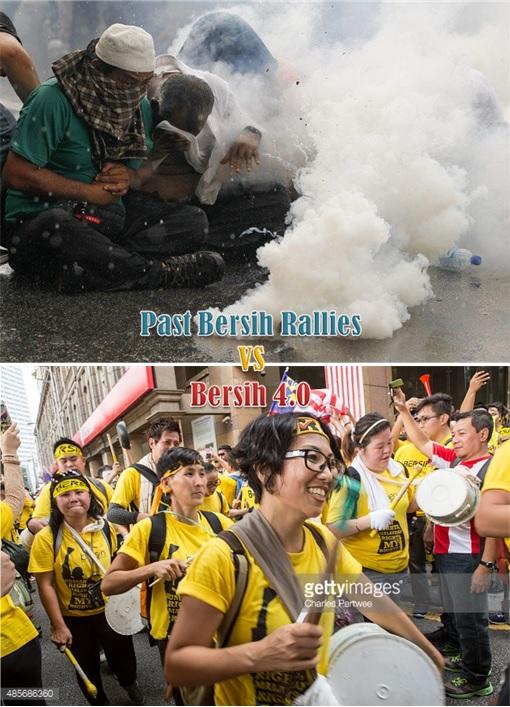 Past Bersih Rallies vs Bersih 4.0