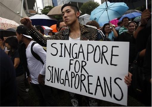 Protester - Singapore for Singaporeans