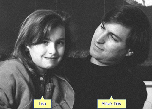 Steve Jobs with Daughter Lisa