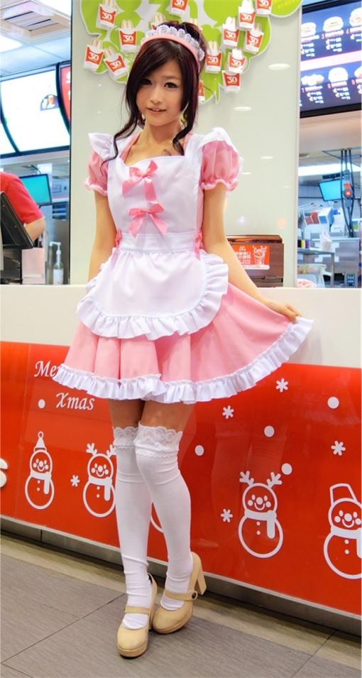 Taiwanese McDonalds Goddess - Wei Han Hsu - WeiWei - in Maids Uniform 2