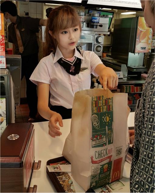 Taiwanese McDonalds Goddess - Wei Han Hsu - WeiWei - in McDonalds Uniform 3