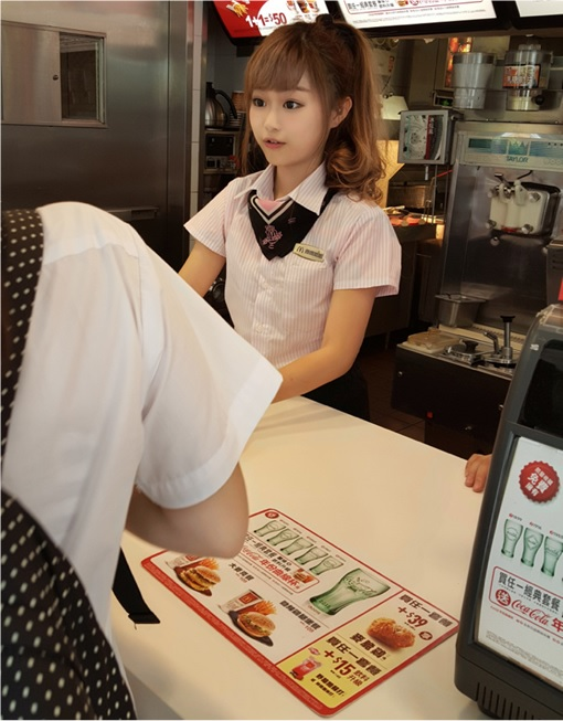 Taiwanese McDonalds Goddess - Wei Han Hsu - WeiWei - in McDonalds Uniform 4
