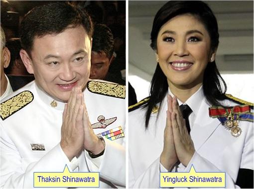Thaksin Shinawatra and Yingluck Shinawatra