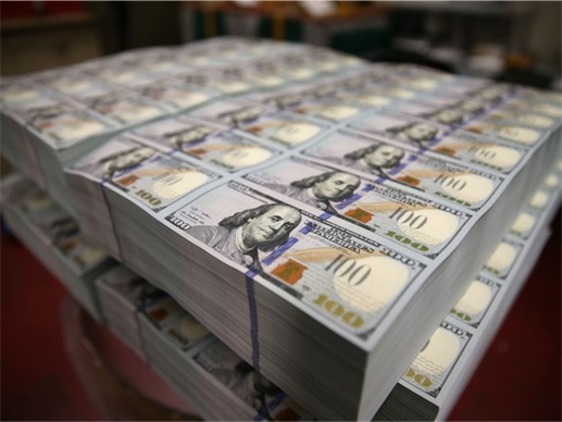 US Dollar Notes Stacked