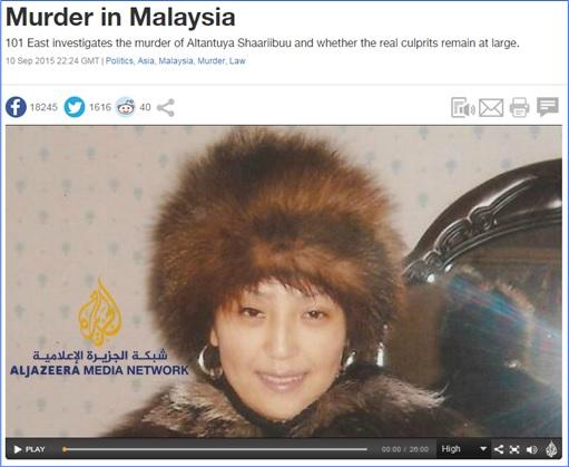 Altantuya Murder - Al-Jazeera - Murder in Malaysia