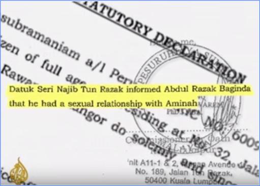 Altantuya Murder - Al-Jazeera - Najib Razak has sex with Aminah