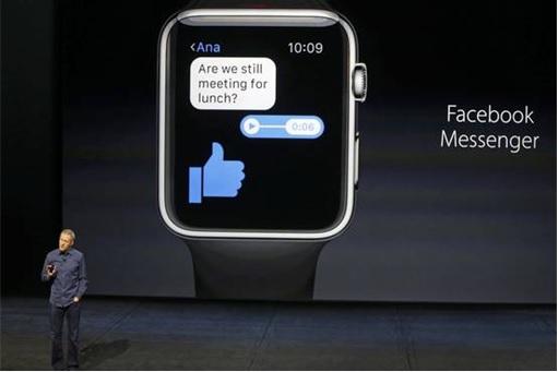 Apple Watch with Facebook Messenger