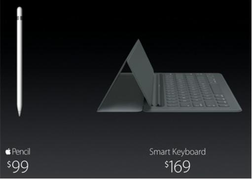 Apple iPad Pro - Pencil and Keyboard Pricing