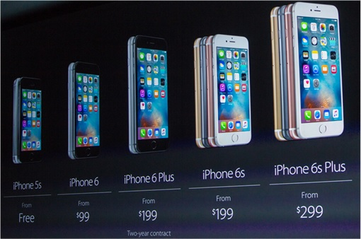 Apple iPhone 6S and 6S Plus - Pricing