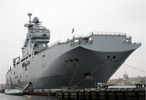France Mistral Helicopter Carriers - At Deck