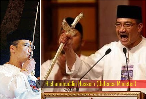 Hishammuddin Hussein - Keris Waving and Kissing