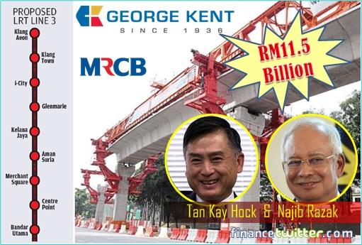 LRT3 Project - MRCB-George Kent Consortium Wins - Tan Kay Hock and Najib Razak