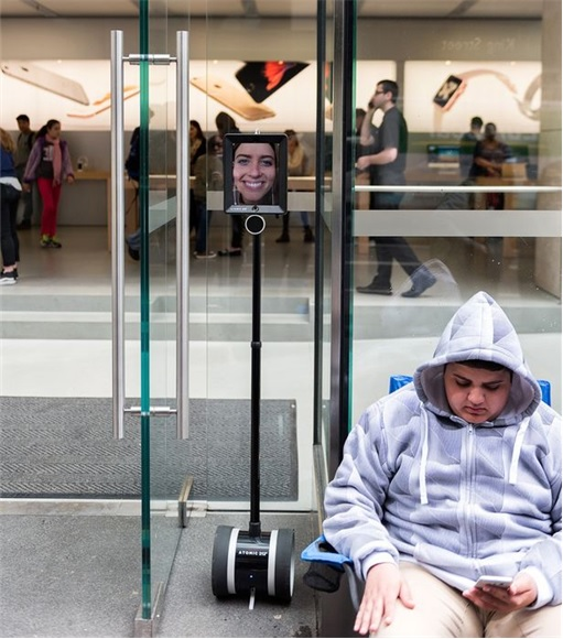 Lucy Kelly The Robot Waiting in Queue To Buy iPhone6S - Sydney Australia