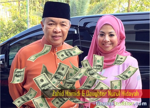 Nurul Hidayah and Father Zahid Hamidi - Money Drop From Sky