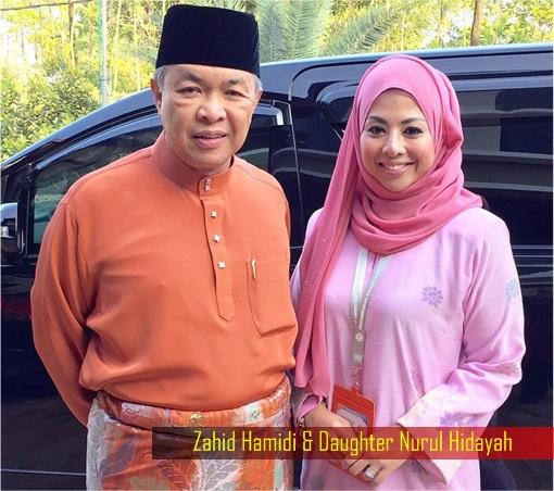Nurul Hidayah and Father Zahid Hamidi