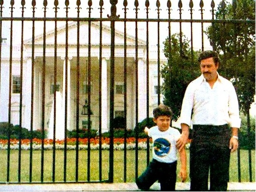 Pablo Escobar - Outside of White House with Son