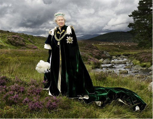Queen Elizabeth II at Countryside