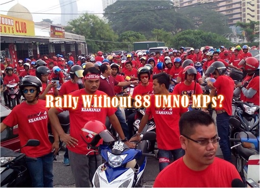 Red Shirt on Motorbike - Without UMNO 88 MPs