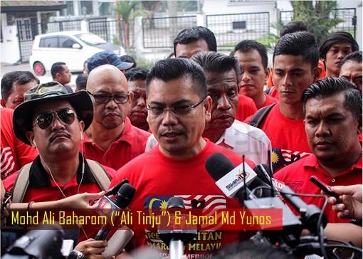 Red Shirts Mohd Ali Baharom - Ali Tinju - and Jamal Md Yunos