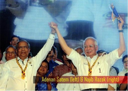 Sarawak Adenan Satem and Najib Razak