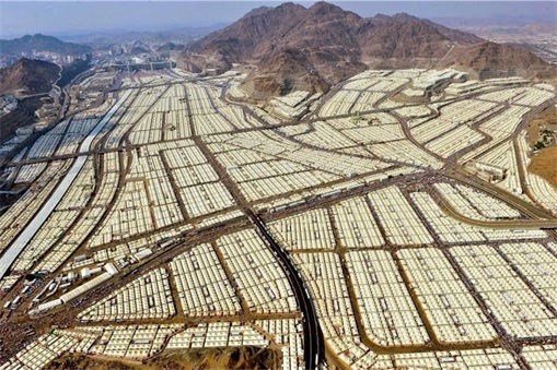Saudi Arabia Empty Air-Conditioned Tents - Aerial View