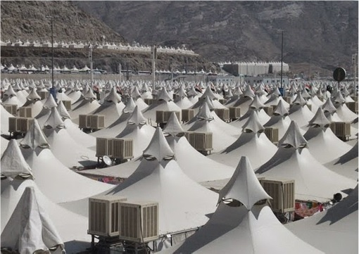 Saudi Arabia Empty Air-Conditioned Tents - Close View