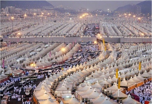 Saudi Arabia Empty Air-Conditioned Tents - Dawn View