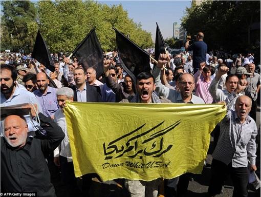 Saudi Stampede - Iranians Protest