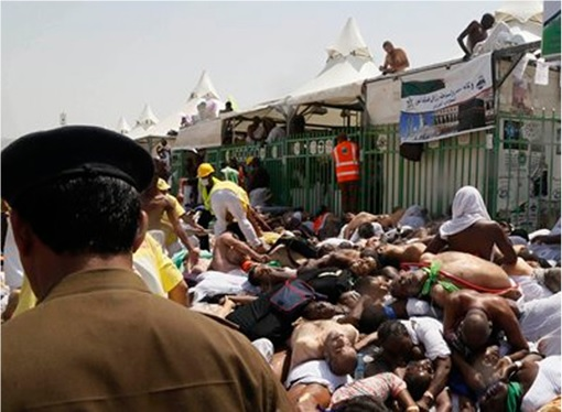 Saudi Stampede - Police Accused of Doing Nothing - People Trample