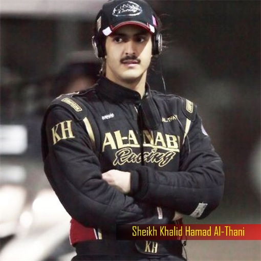Sheikh-Khalid-Hamad-Al-Thani - in Racing Suit