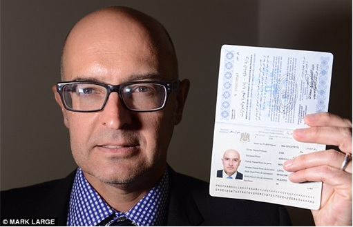 Syrian Refugees Crisis - MailOnline Reporter Holding Syrian Passport