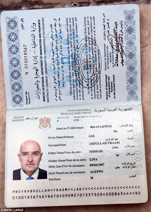 Syrian Refugees Crisis - MailOnline Reporter Passport Bought from Fraudster