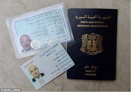 Syrian Refugees Crisis - Syrian passport, identity card and driving license from Fraudster