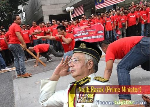 UMNO Red Shirts - Najib Razak