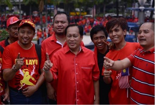 UMNO Red Shirts Rally - Ahmad Maslan