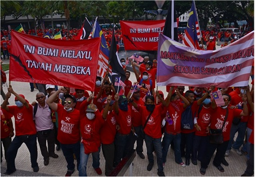 UMNO Red Shirts Rally Charming Message - Ini Bumi Melayu Tanah Merdeka