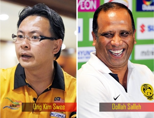 World Cup qualifier between Malaysia and Saudi Arabia - Ong Kim Swee and Dollah Salleh