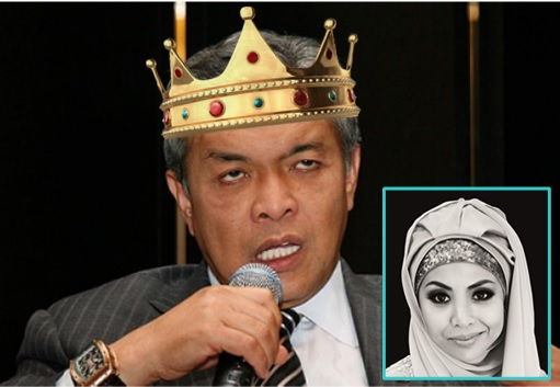 Zahid Hamidi Wearing Crown with daughter Nurul Hidayah