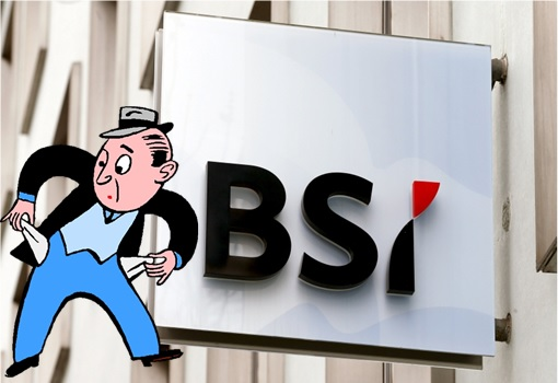 1MDB Scandal - Brazen Sky Limited BSI Singapore Signboard - No Cash