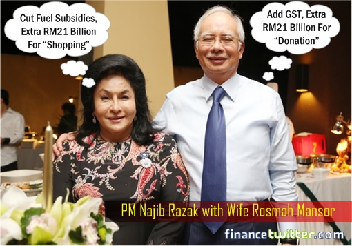 Budget 2016 - Najib Razak Gets 21 Billion for Donation - Rosmah Mansor Gets 21 Billion for Shopping